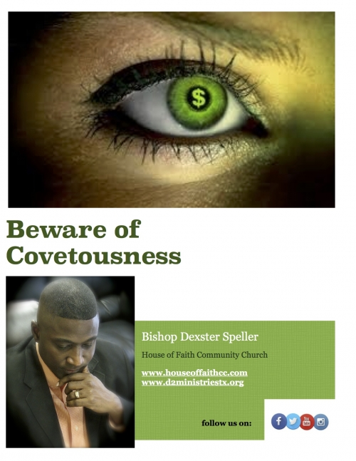 Beware of Covetousness